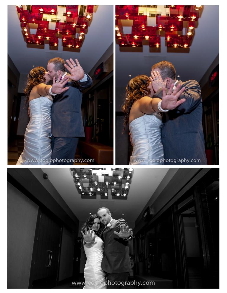 Wedding final kiss