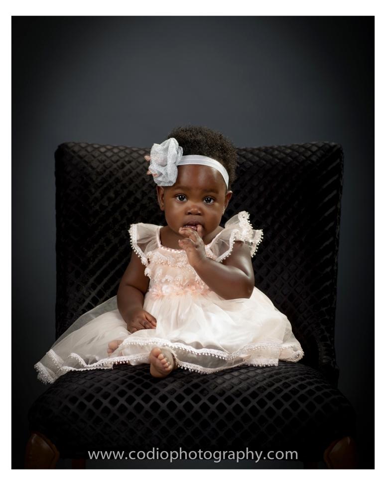 Adorable baby girl photo