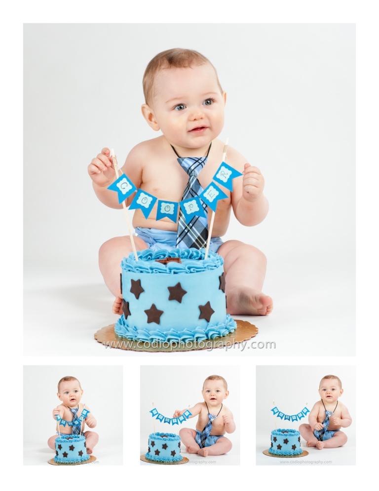 boy smash the cake