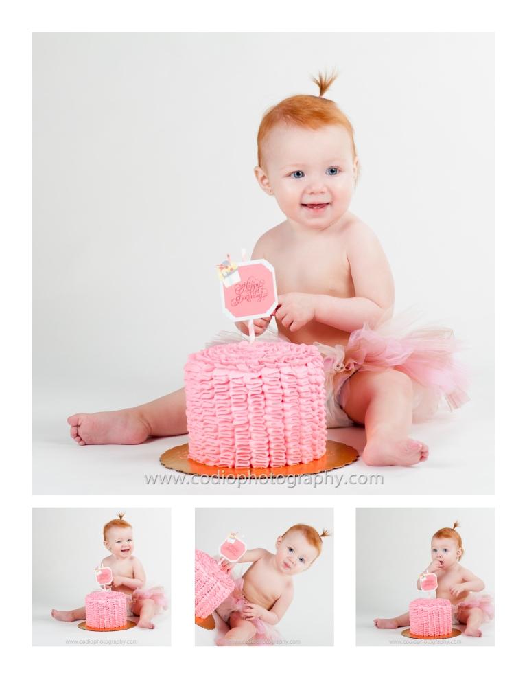 girl smash the cake