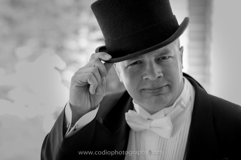 groom in top hat