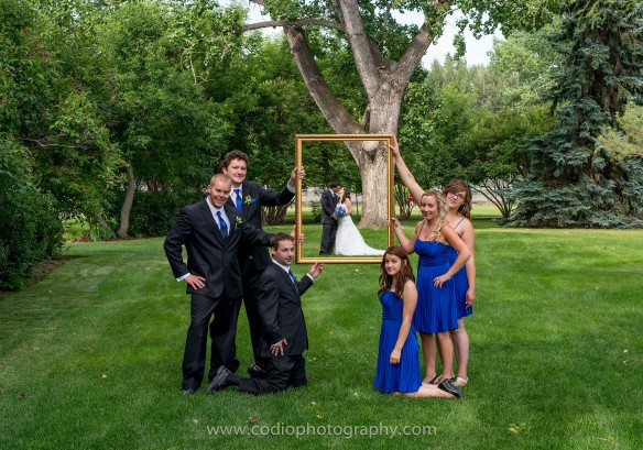 wedding photo with picture frame