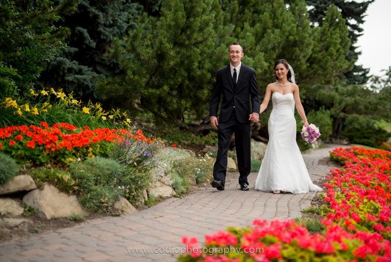 bride and groom SAIT park