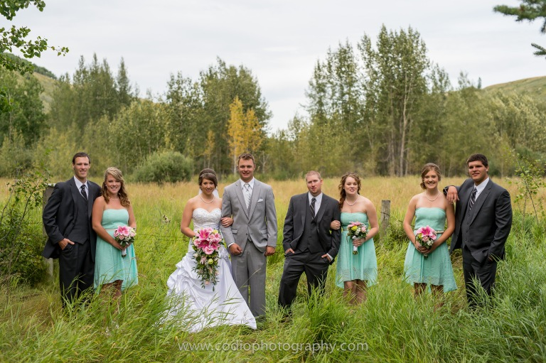 Bridal Party Airdrie Wedding