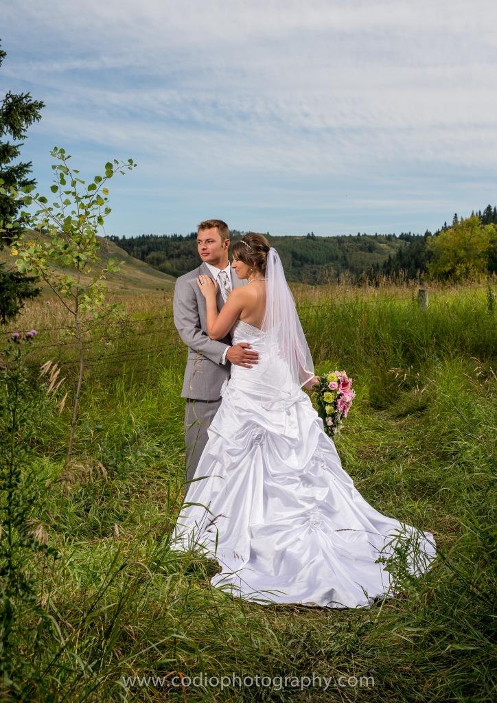 Bride and Groom Calgary wedding