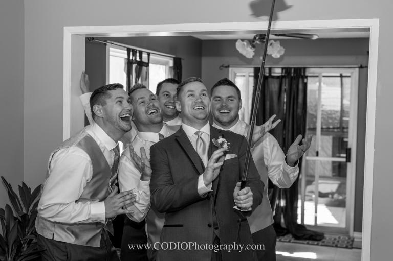 groom and groomsmen selfie