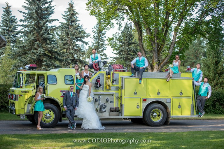 Fire Truck wedding party